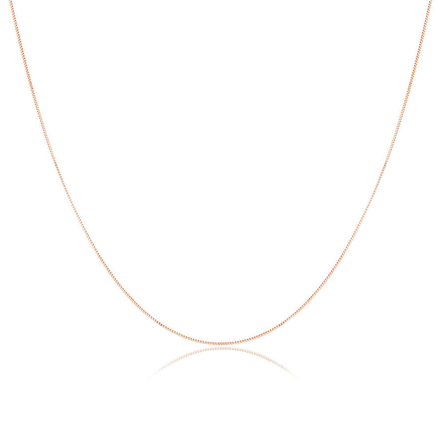 """45cm (18"""") Box Chain in 10kt Rose Gold"""
