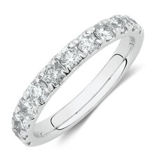 Evermore Wedding Band with 1 Carat TW Diamonds in 14kt White Gold