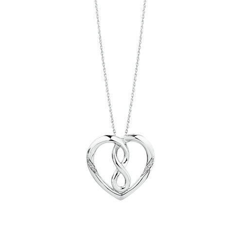 Infinitas Pendant with Diamonds in Sterling Silver