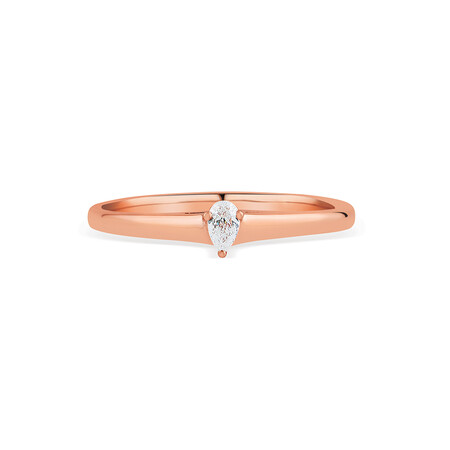 Promise Ring with Diamond in 10kt Rose Gold