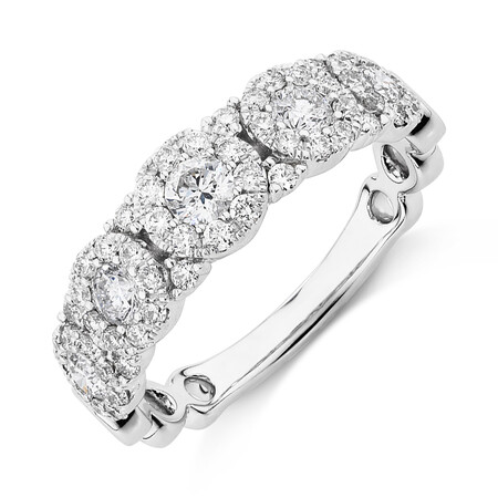 Bubble Ring with 1 Carat TW of Diamonds in 10kt White Gold