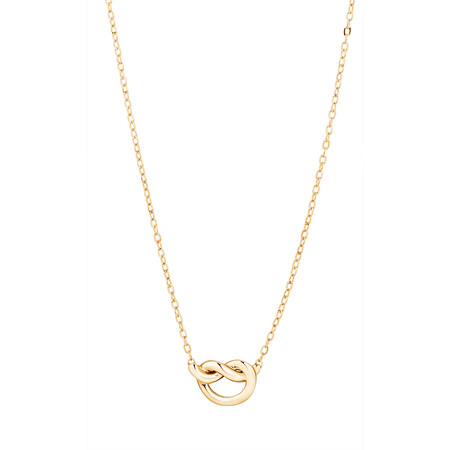 Knot Necklace in 10kt Yellow Gold