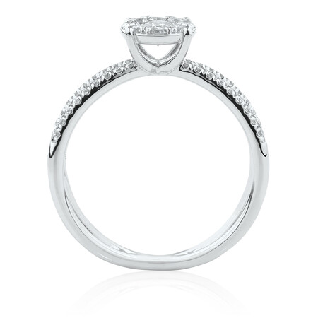 Evermore Engagement Ring with 5/8 Carat TW of Diamonds in 10kt White Gold