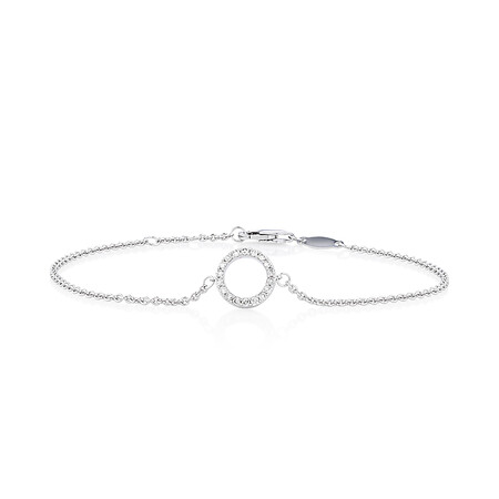 "19cm (7"") Bracelet with 0.16 Carat TW of Diamonds in 10kt White Gold"