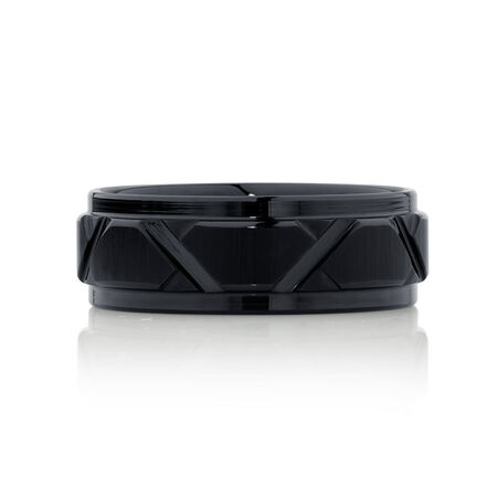 8mm Men's Wedding Band in Black Tungsten