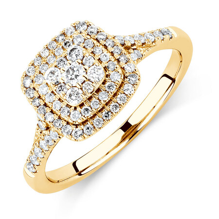 Engagement Ring with 1/2 Carat TW of Diamonds in 10kt Yellow Gold