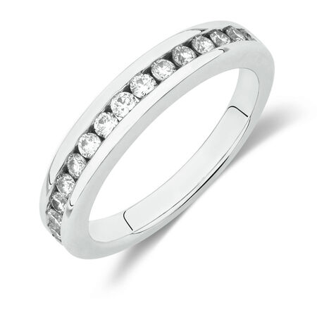 Online Exclusive - Wedding Band with 1/2 Carat TW of Diamonds in 18kt White Gold