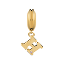 Diamond Set & 10kt Yellow Gold 'H' Charm