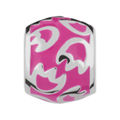 Hot Pink Enamel Charm