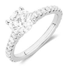 Sir Michael Hill Designer GrandAria Engagement Ring with 2.21 Carat TW of Diamonds in 14kt White Gold