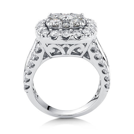 Engagement Ring with 4 Carat TW of Diamonds in 14kt White Gold