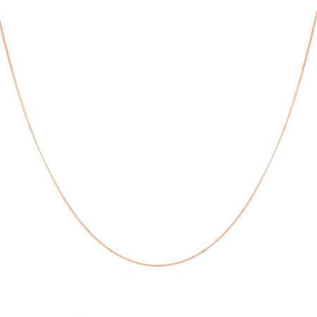"""45cm (18"""") Box Chain in 10kt Yellow Gold"""