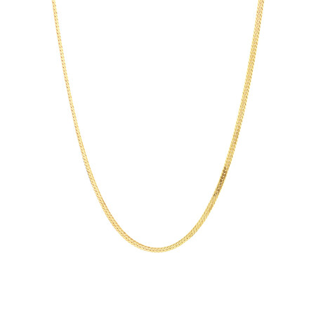 """45cm (18"""") Flat Chain in 18kt Yellow Gold"""