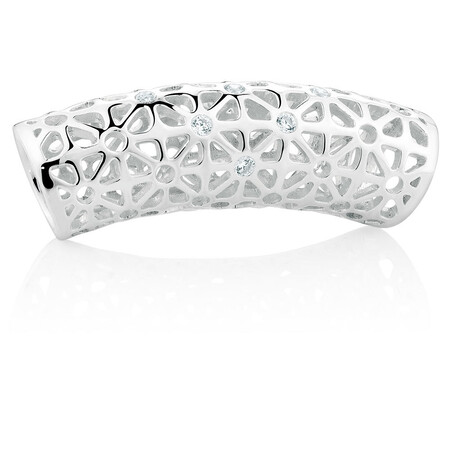 Cubic Zirconia & Sterling Silver Floral Filigree Wild Hearts Sleeve