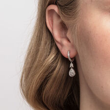 Sir Michael Hill Designer GrandAmoroso Drop Earrings with 0.33 Carat TW of Diamonds in 10kt White & Rose Gold