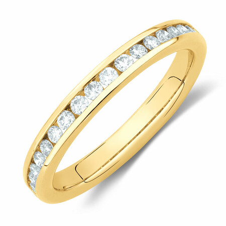 Wedding Band with 0.34 Carat TW of Diamonds in 14kt Yellow Gold