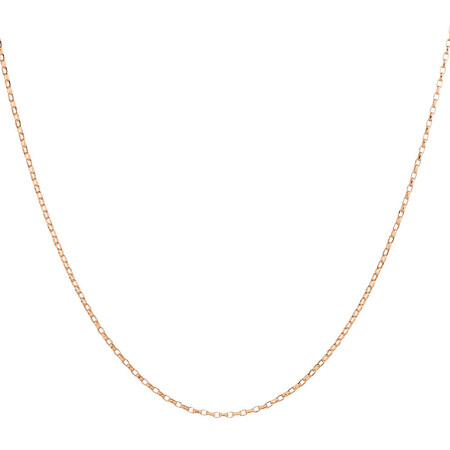 "45cm (18"") Solid Rolo Chain in 10kt Rose Gold"