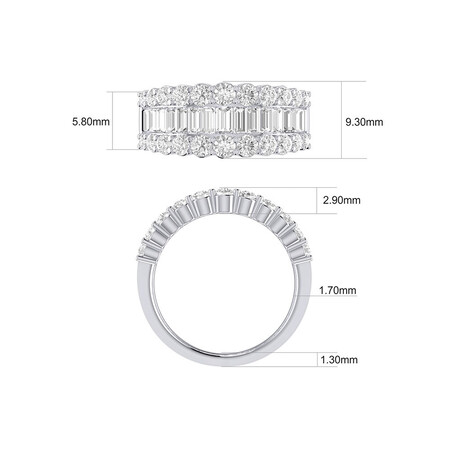 Ring with 2 Carat TW of Diamonds in 14kt White Gold
