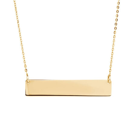 Bar Necklace in 10kt Yellow GoldBar Necklace in 10kt Yellow Gold
