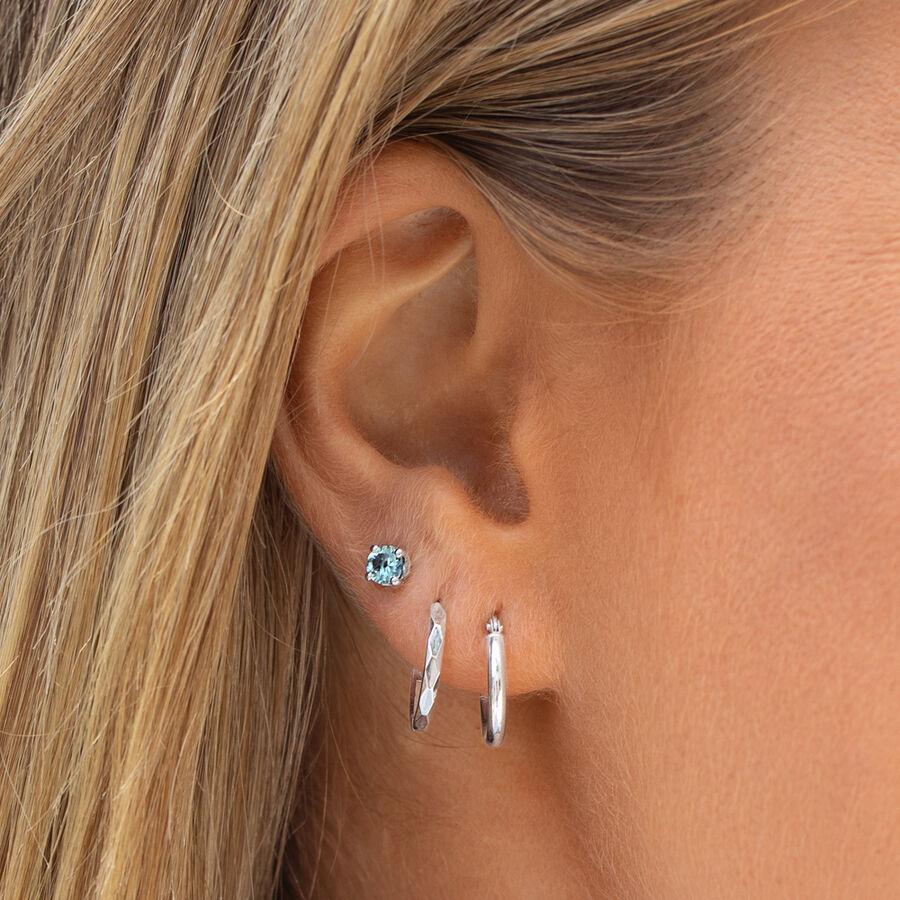 14mm Hoop Earrings in 10kt White Gold