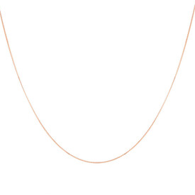 "50cm (20"") Box Chain in 10kt Rose Gold"