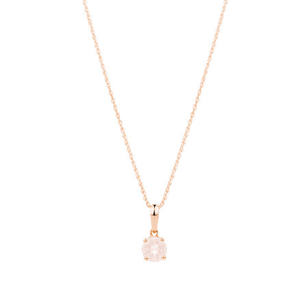 Pendant with Morganite in 10kt Rose Gold