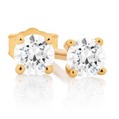 Classic Stud Earrings with 0.18 Carat TW of Diamonds in 10kt Yellow Gold