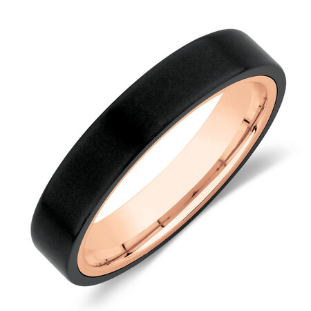 Ring in Black Titanium & 10kt Rose Gold