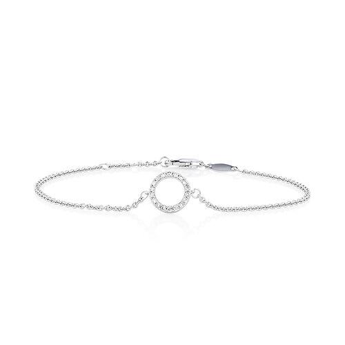 "19cm (7"") Bracelet with 0.16 Carat TW of Diamonds in 10kt White Gold"
