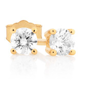 Classic Stud Earrings with 0.23 Carat TW of Diamonds in 10kt Yellow Gold