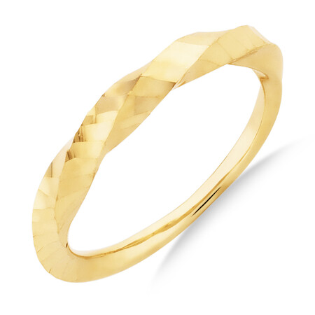 Twist Ring in 10kt Yellow Gold