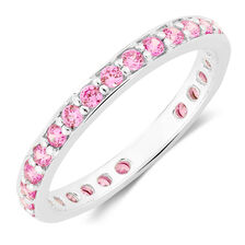 Pink Cubic Zirconia Stack Ring