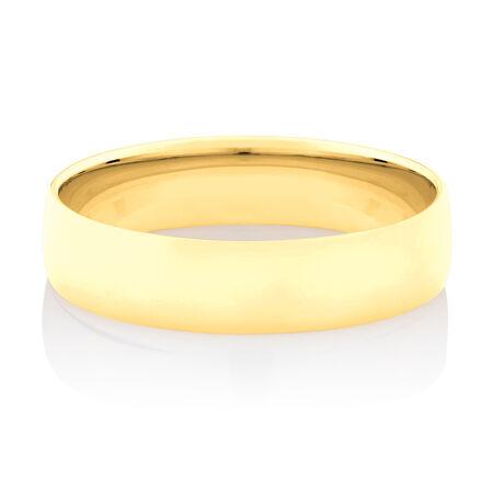 Lite Half Round Wedding Band in 10kt Yellow Gold