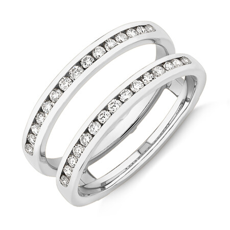 Evermore Enhancer Ring with 0.40 Carat TW Diamonds in 14kt White Gold
