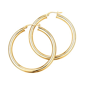 35mm Hoop Earrings in 10kt Yellow Gold