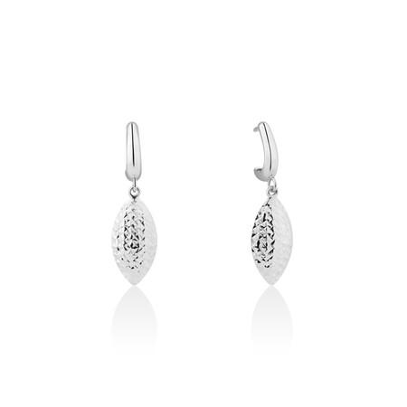 Drop Stud Earrings in 10kt White Gold