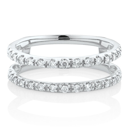 Enhancer Ring with1/4 CaratTW of Diamonds in 10kt White Gold