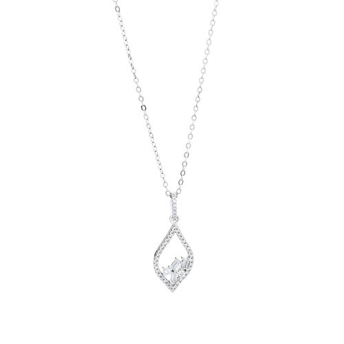Pendant with Cubic Zirconia in Sterling Silver