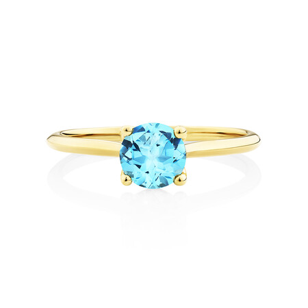 Ring with Topaz in 10kt Yellow Gold