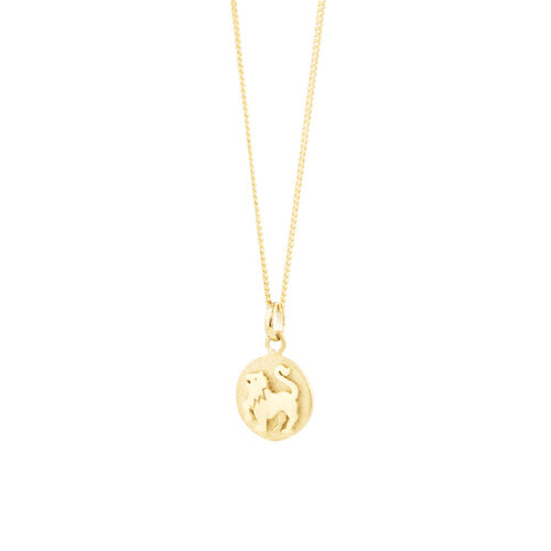 Leo Zodiac Pendant In 10kt Yellow Gold