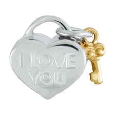 10kt Yellow Gold & Sterling Silver Heart Charm