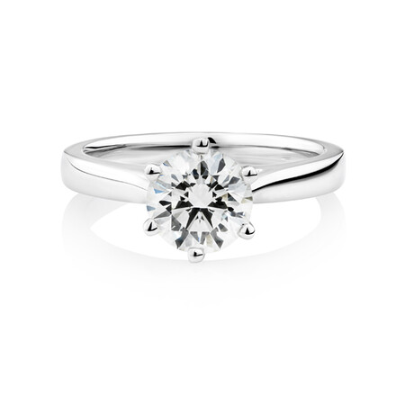 1.50 Carat TW of Diamond Ring in 14kt White Gold