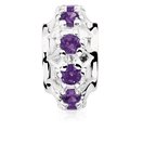 Purple Cubic Zirconia Charm