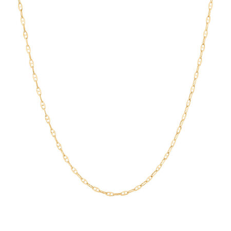"""50cm (20"""") Hollow Fancy Chain in 10kt Yellow Gold"""
