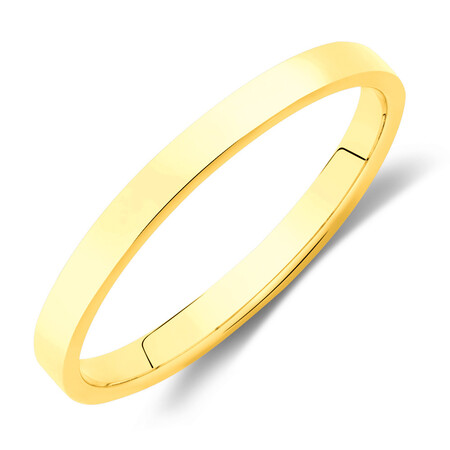Lite Half Round Wedding Band in 10kt Yellow Gold