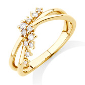 Scatter Ring with 0.15 Carat TW of Diamonds in 10kt Yellow Gold