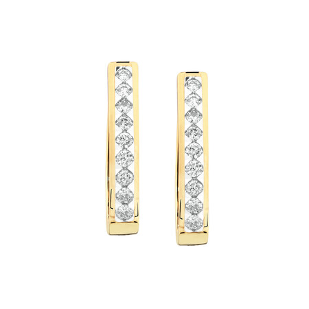 Huggie Earrings with 1/2 Carat TW of Diamonds in 10kt Yellow Gold