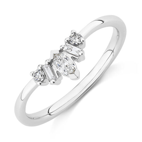 Evermore Wedding Band with 0.20 Carat TW of Diamonds on 10kt White Gold