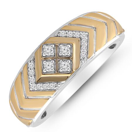 Ring with 0.16 Carat TW of Diamonds in 10kt Yellow Gold