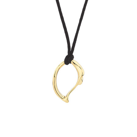 Medium Spirits Bay Solid Pendant in 10kt Yellow Gold